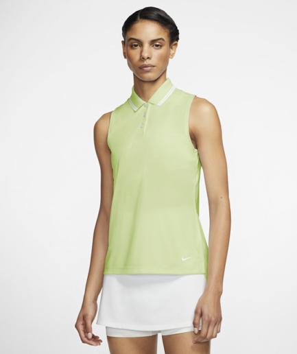 Ærmeløs Nike Dri-FIT Victory-golfpolo til kvinder - Grøn