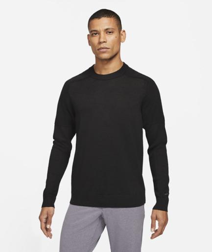 Maskinstrikket Tiger Woods-golfsweater til mænd - Sort
