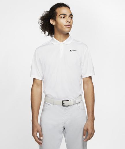 Nike Dri-FIT Victory-golfpolo til mænd - Hvid