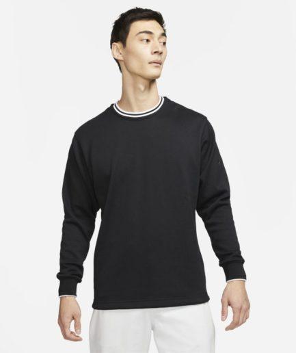 Nike Dri-FIT-golfcrewtrøje til mænd - Sort