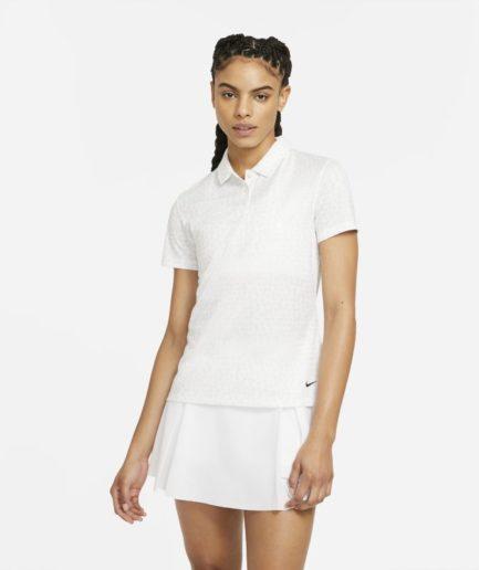 Nike Dri-FIT - golfpolo med print til kvinder - Hvid