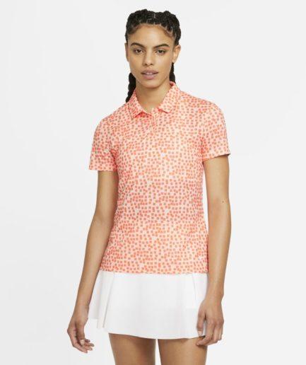 Nike Dri-FIT - golfpolo med print til kvinder - Orange