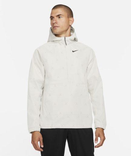 Nike Repel-golf-anorakjakke med print til mænd - Grå