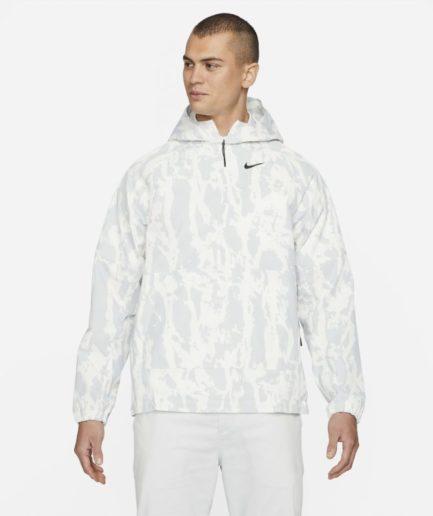 Nike Repel-golfanorak i camo til mænd - Hvid