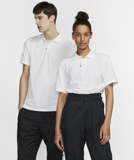 The Nike Polo-unisex polo med slank pasform - Hvid