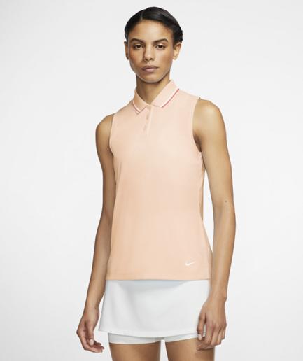 Ærmeløs Nike Dri-FIT Victory-golfpolo til kvinder - Orange