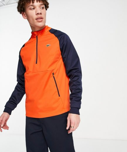 Lacoste Sport - Golf-sweatshirt i to materialer-Multifarvet