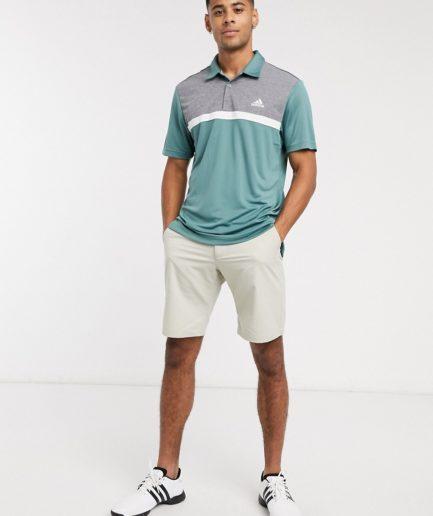 adidas Golf - grøn farveblokket polo